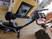 A Roger black exercise bikd. Hardly used ex con