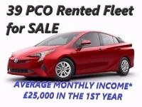 PCO/UBER ready Rented Fleet for SALE with 39 cars, current income £19,000-£23,000 a month