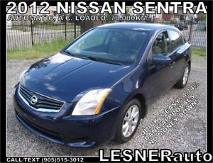 2012 NISSAN SENTRA S FE+ AUTO A/C LOADED ALLOYS SPOILER-70,000KM