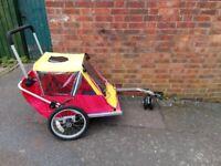 Double Bike Trailer / pushchair