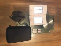 White Nintendo DS Lite console with loads of extras!