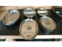 Stainless steel catering dishes