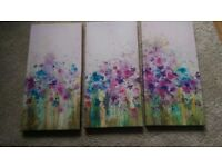 SET OF THREE CANVAS PRINTS