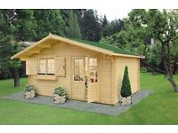 High quality 4,5 x 4 m Log Cabin