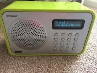 Polaroid lime green radio