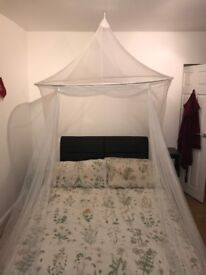 White canopy for bed
