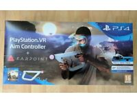PlayStation 4 VR Aim Controller And Farpoint Game For Sony PS4 VR - NEW & SEALED