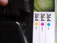 Brand New HP 364 ink cartridges. Plastic seal around each of them intact.