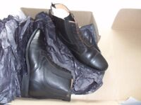 Ladies brown leather Dever riding boots, boxed and unused.