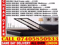 NEW DOUBLE AND KING SIZE SINGLE LEATHER BED AND MATTRESS Spring