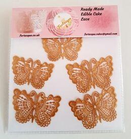 Edible Cake Lace Butterflies