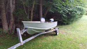 12' Aluminum boat and Shorelander Trailer