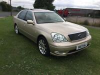 03 REG LEXUS LS 430 4.3 4DR-FULL HISTORY-2 KEYS-HEATED & COOLED ELECTRIC SEATS-SAT NAV-