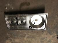 Stainless steel camping sink and hob