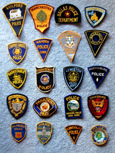 Obsolete USA Police Force Patches
