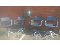 salon equipment job lot of chairs, footrest & hairdryer delivery available