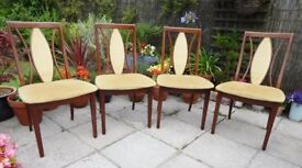 Set of 4 Gplan dining chairs