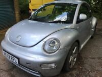 Volkswagen Beetle 1596cc Petrol 5 speed manual 3 door hatchback 02 plate 19/07/2002 Silver