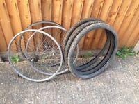 Mountain bike frame and wheels