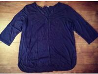 Ladies Grey Blouse - Size 16