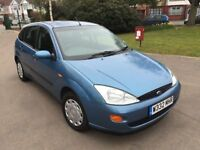 One Private Owner! 2000 W reg Focus 1.8 Zetec 5 Dr Hatch 120000 Miles October MOT Great Runaround