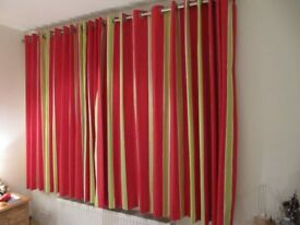 Curtains length 170cm width total 350cm