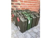 Solid Metal Jerry Cans Jet Washed Clean Joblot & Single Rrp £20