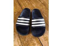 Adidas Sliders, size 7