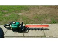 Petrol garden hedge trimmer