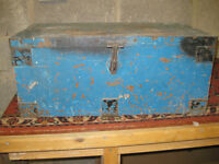 wooden toolbox with inner drawer ex-RAF