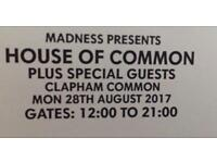 Madness House of Commons Tickets x2
