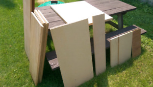Wood / particle board assorted