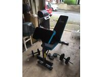Men's Health weight bench and cast iron weights