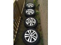 4 x 17 inch Vauxhall Astra Alloys with good tyres