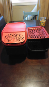 Tupperware Potato and Onion Bins