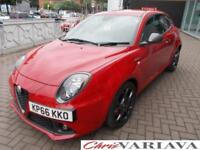 2016 Alfa Romeo Mito 1.4 TB MultiAir 170 Veloce 3dr TCT Petrol red Automatic