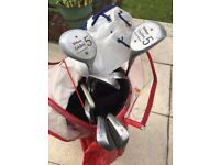 Half Set of Ladies Golf Clubs with bag and a few balls - suitable for beginner