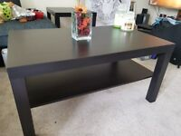 Black Coffee Table and Smaller Side Table