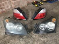 Vauxhall Astra mk5 headlights & tail lights