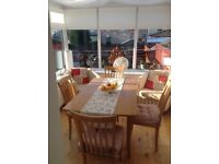 Wooden Extendable Dining Table &Chairs