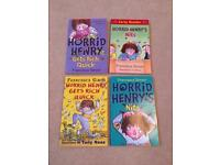 4 different Horrid Henry Books