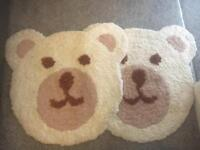 Two bear rugs