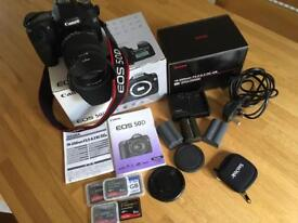 Canon 50D DSLR Camera complete outfit with zoom lens.