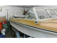 Suzuki 60hp outboard in good working order, boat and trailer.