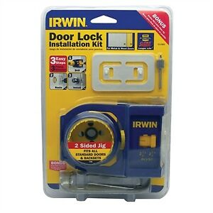 IRWIN Wood/Metal Door Lock Installation Kit