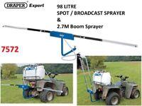 DRAPER EXPERT 98 LITRE BROADCAST QUAD SPOT SPRAYER 12V DC ATV & 2.7M BOOM SPRAYER