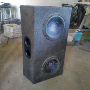 "Dual 10"" subs and box"