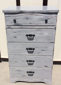 Refinished 5 Drawer Chest