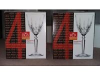 RCR Wine Glasses (two sets of 4) - unused