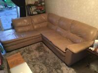 Taupe right handed chaise sofa
